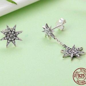 Jewelry - New - Asymmetrical Star Drop Earrings